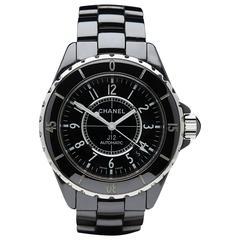 2006 Chanel Black Ceramic/Stainless Steel Unisex Watch H0685