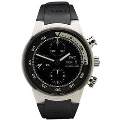 2005 IWC Stainless Steel Aquatimer Chronograph Mens Watch IW3719