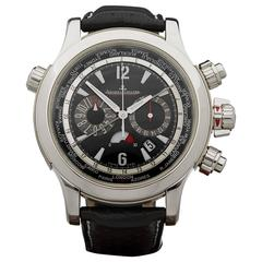 2006 Jaeger-LeCoultre Stainless Steel Master Compressor World Time Mens Watch