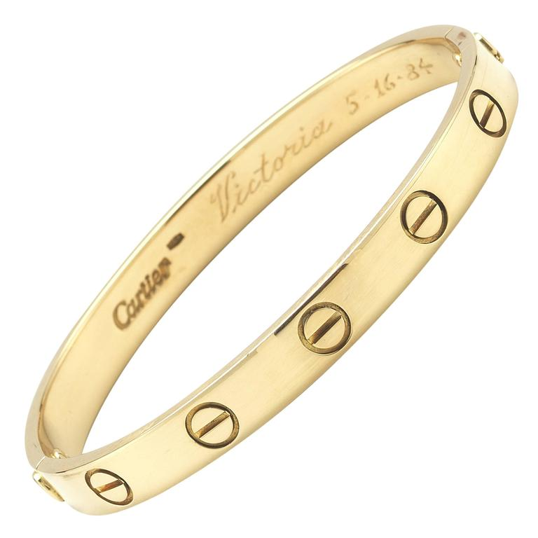 Cartier Love Bracelet Yellow Gold Size 16 For