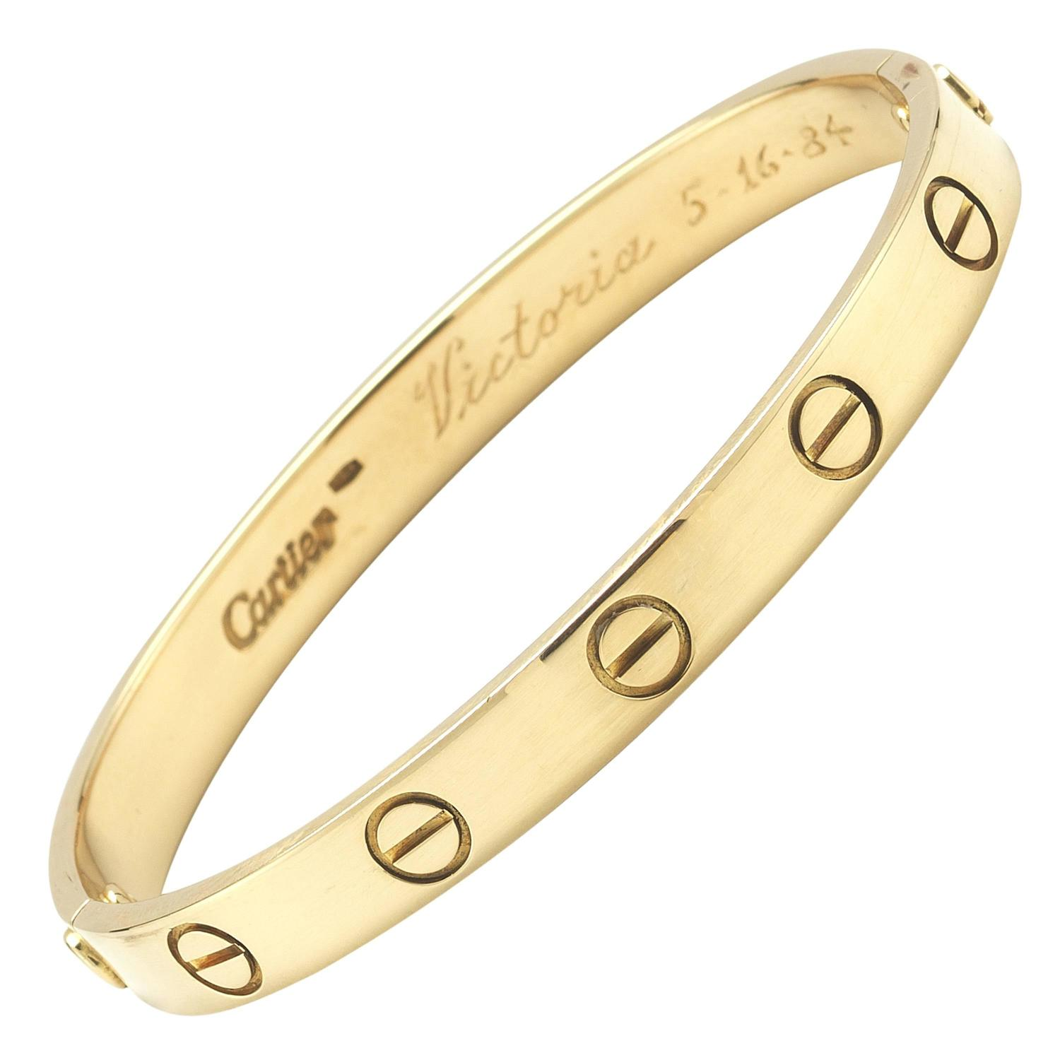 Cartier Love Bracelet Yellow Gold Size 16 At 1stdibs