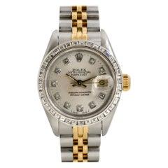 Rolex 69173 Datejust Two Tone Diamond Dial & Bezel Ladies Watch