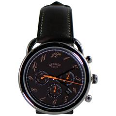 Hermes Stainless Steel Arceau Chronograph Automatic Wristwatch