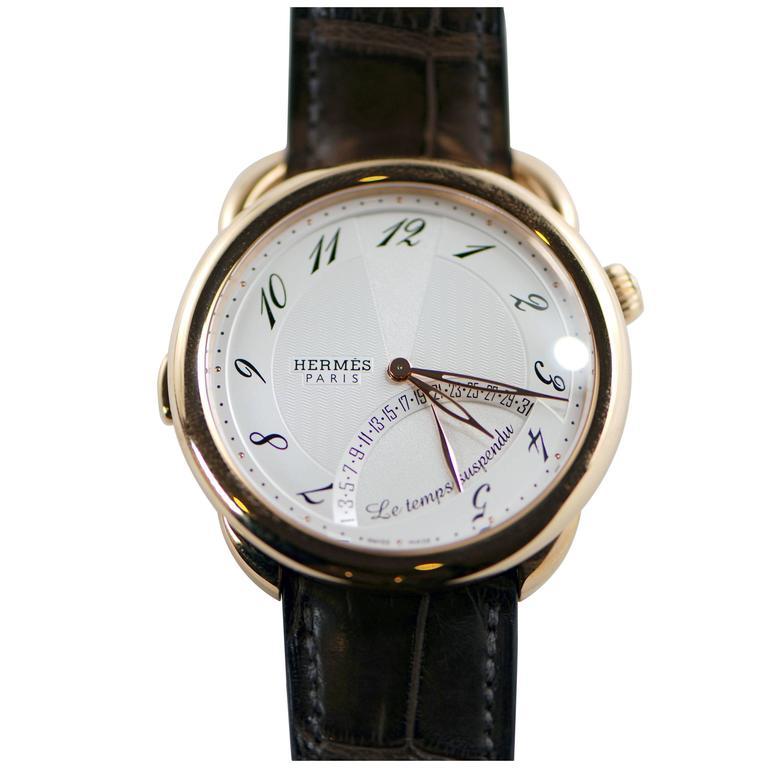 Hermes Rose Gold Arceau Automatic Wristwatch