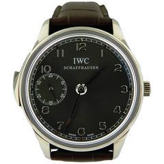 IWC White Gold Portuguese Minute Repeater Wristwatch Ref 5242
