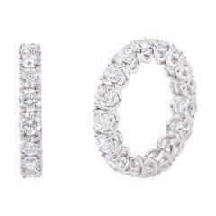 18 Karat Gold 5.79 Carats GIA Certified Brilliant-Cut Diamond Eternity Band Ring