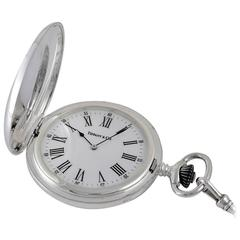 Tiffany & Co. Sterling Silver Pocket Watch and Chain