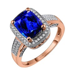 Tanzanite Diamond Ring 14k Rose Gold