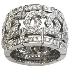 "Cartier ""Double C"" diamond gold ring"