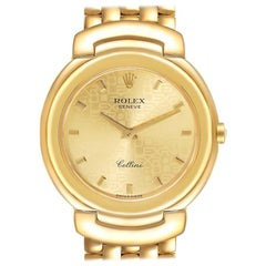 Rolex Cellini 18k Yellow Gold Champagne Anniversary Dial Men's Watch 6622