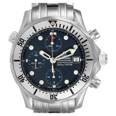 Omega Seamaster Chronograph Blue Dial Steel Men's Watch 2598.80.00
