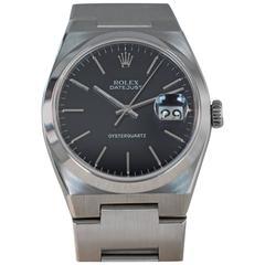 Rolex Stainless Steel Date Oysterquartz Wristwatch Ref 17000