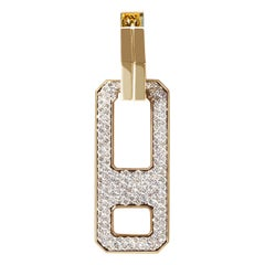 DNA Pave Diamond Single Earring in 18k Yellow Gold