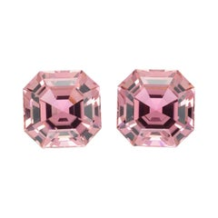 Pink Tourmaline Earring Gemstones 11.01 Carat Square Octagon Loose Gems
