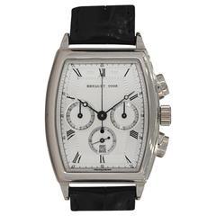 Breguet White Gold Heritage Tonneau Chronograph Wristwatch Ref 5460BB/12/996