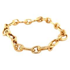 1990s Tiffany & Co. Oval Link Bracelet, 18 Karat Yellow Gold