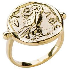 Owl of Athena Gold RIng