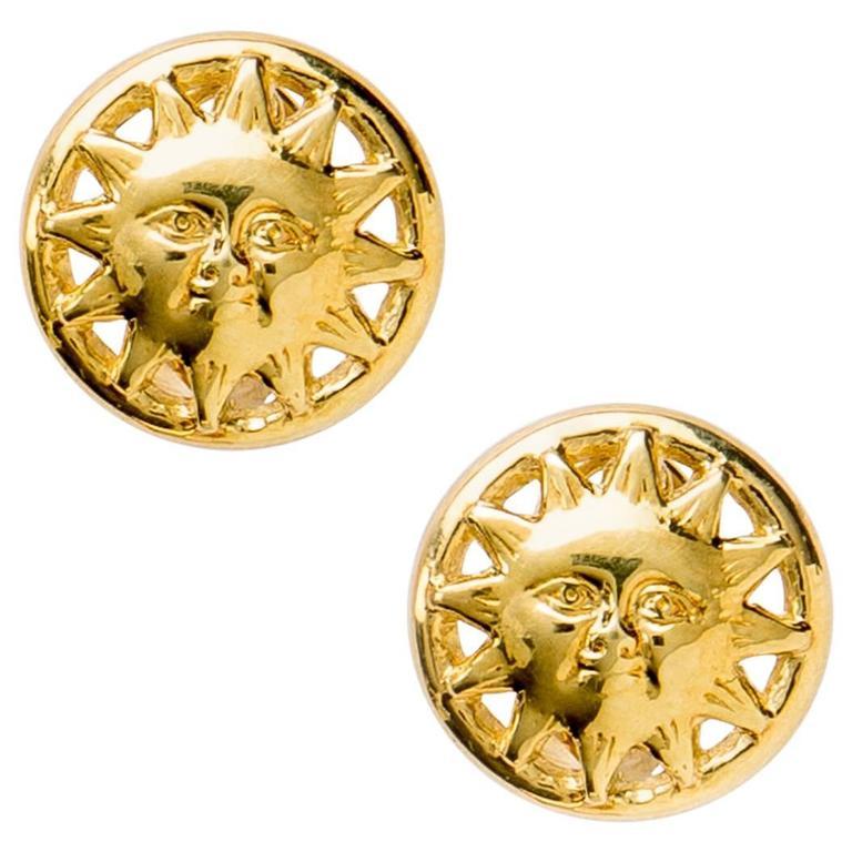 Golden Sun Earrings