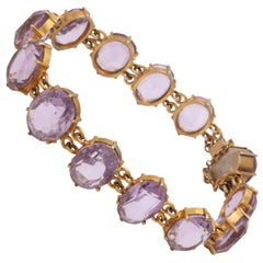 Amethyst Gold on Silver Bracelet c.1860