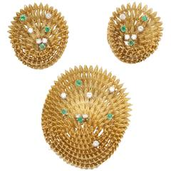 Handmade Emerald Diamond Gold Suite