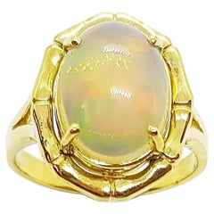 Opal Ring Set in 18 Karat Gold Settings