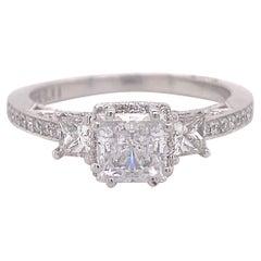 Designer Tacori Engagement Ring, Dantela Diamond Cresent, White Gold, 2663PR
