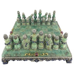 Colombian Emerald and Gemstones Chess
