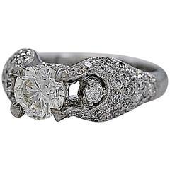 1.02 Carat Diamond Gold Engagement Ring