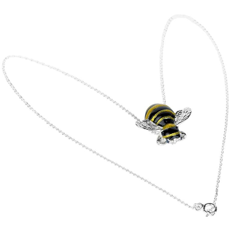 Zuni sterling silver bumble bee squash blossom necklace 1975 tanner deakin francis bumble bee pendant aloadofball Images