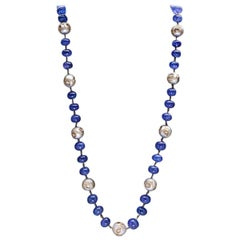 Gorgeous Tanzanite Pearl Necklace