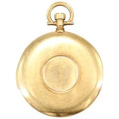 Cartier EWC Yellow Gold Shutter Minute Repeater Pocket Watch