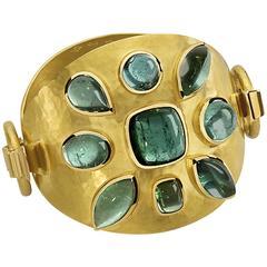 Colleen B. Rosenblat tourmaline gold bracelet