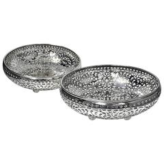 Pair Shreve, Crump & Low San Francisco Sterling Silver Fruit Bowls  c1900