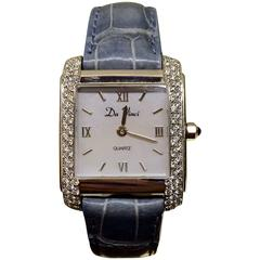 Da Vinci Lady's Yellow Gold Diamond Quartz Wristwatch