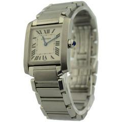 Cartier Stainless Steel Tank Francaise Quartz Wristwatch Ref 2301