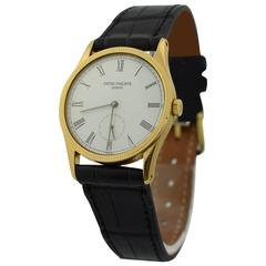 Patek Philippe Yellow gold Calatrava Wristwatch Ref 3796 J