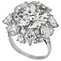 Bulgari 12.21 Carat GIA Cert Diamond Platinum Ring