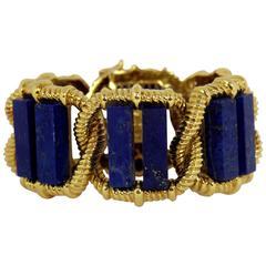 Wander Lapis Gold Link Bracelet