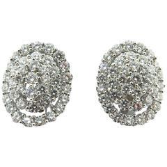 Beautiful Diamond Gold Cluster Earrings