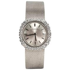 Gubelin Lady's White Gold Diamond Evening Wristwatch