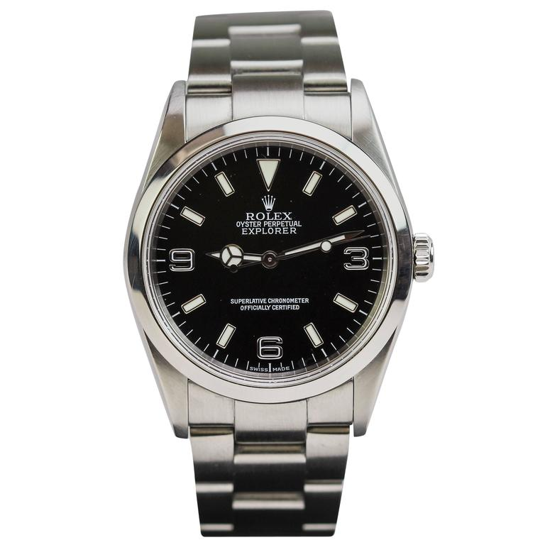 Rolex Stainless Steel Explorer Wristwatch Ref 114270