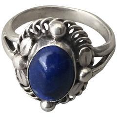 Georg Jensen 830 Lapis Lazuli Silver Ring No. 1