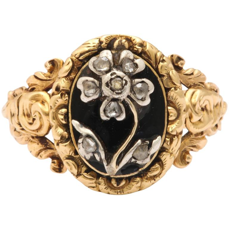 Regency Diamond Gold Pansy Ring Symbolises Affection