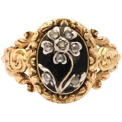 Regency Diamond Gold Pansy Ring Symbolises Affection
