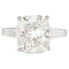 Flawless GIA Certified 2 Carat Cushion Cut Diamond Ring