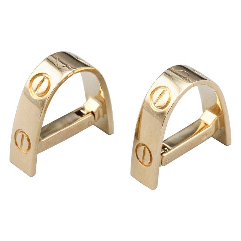 Cartier Love 18k Gold Cufflinks For Sale