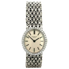 Patek Philippe Golden Ellipse Vintage Lady's Diamond Bracelet Watch, Ref. 4178