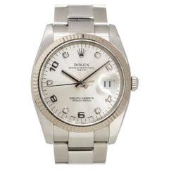 Rolex 115234 Datejust Stainless Steel Diamond Dial Watch