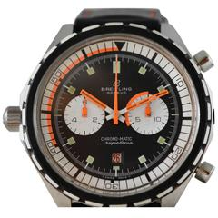 Breitling Sterling Silver Chrono-matic SuperOcean Automatic Wristwatch