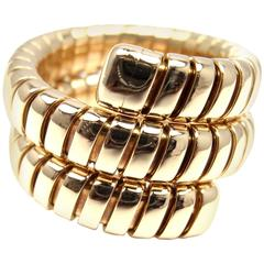 Bulgari Wrap Tubogas Gold Snake Ring
